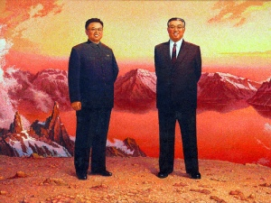 Kim Jong Il and Kim Il Sung